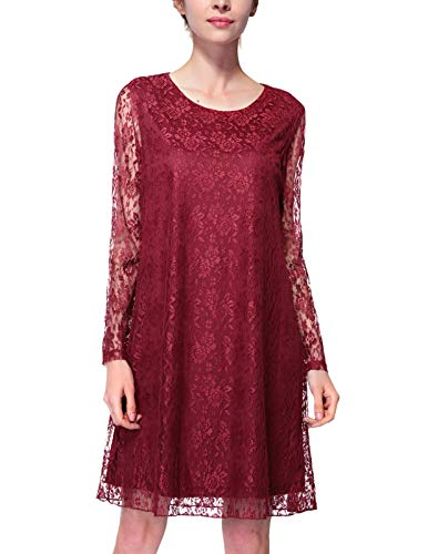 Female Casual Daily Wear Wear to Work Lace Dres...