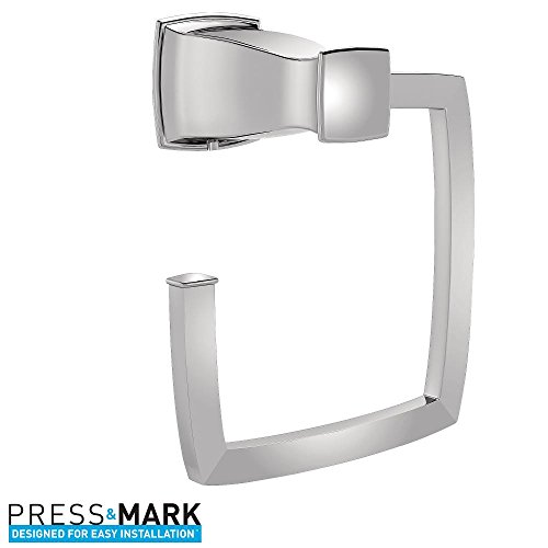 Hensley Towel Ring with Press and Mark in Chrome by Hensley