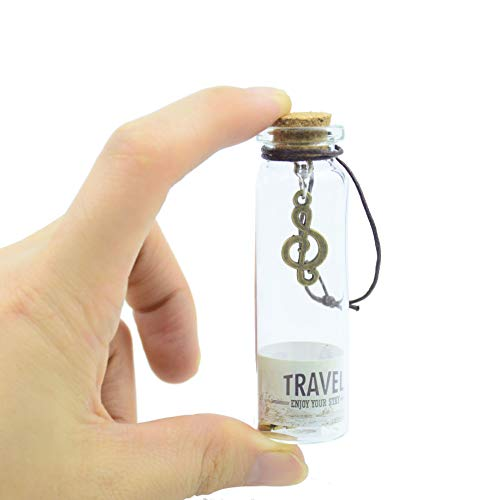 12pcs Mini Vintage Clear Glass Wishing Bottles with Cork Stoppers&Pendant Charms for Necklace Mason Jar Wedding Favors