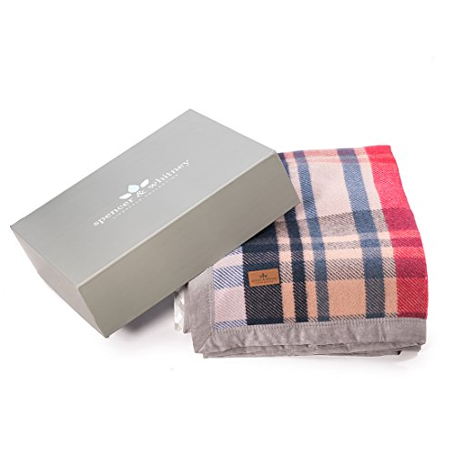 SPENCER&WHITNEY Wool Soft Thick Blanket Large Soft Blanket Thick Blanket Warm Luxurious Throw Blanket (Plaid Wool Blankets)
