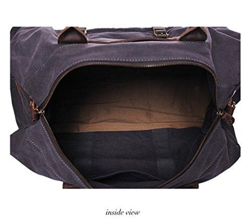 Sucastle Retro Tasche lässig Tasche Reisetasche Schultertasche Messenger Bag Tragetasche Sucastle Farbe: grau Größe: 50x26x26cm