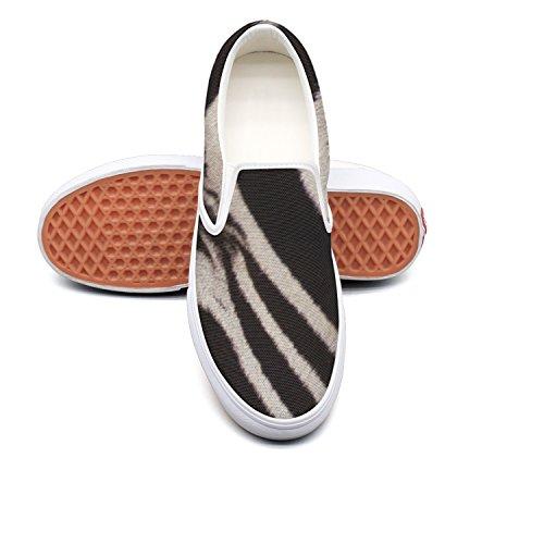 RegiDreae Canvas Slip On Sneakers For Women Zebra Face Fashion Sneaker by RegiDreae