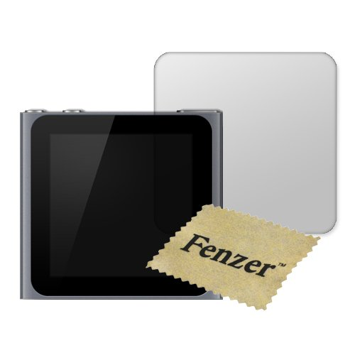 100 Pack Fenzer Anti-Scratch Clear Screen Protector for Apple iPod Nano Gen6 6th Generation w/ Cloth