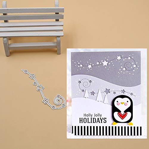 Swirling Star Cutting Dies,Letmefun Metal Cutting Dies Stencils for DIY Scrapbook Photo Album Paper Card Decorative Craft Embossing Die New ()