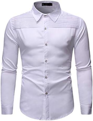 Heetey - Camisa para Hombre de Manga Larga, con Volantes, con ...