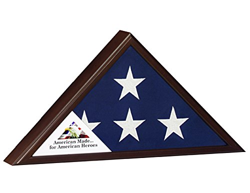 Veteran-Flag-Case-for-5x95-Burial-Flag-Cherry-Finish-American-Made-for-American-Heros