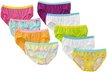 Hanes Little Girls' Hipster, Assorted, 4 (Pack of 9)