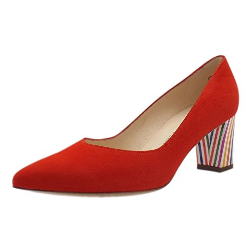 Shoes Pointed Tacco Toe Coral Rosso Red In Alla Naja Kaiser Corte Corallo Peter Moda XRwYA4Yx