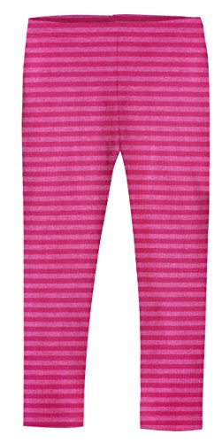 City Threads Girls' Leggings Cotton/Poly Blend for School Uniform Sports Coverage or Play Perfect for Sensitive Skin or SPD Sensory Friendly Clothing, Stripe Hot Pink, 2t