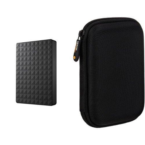Seagate Expansion 4TB Portable External Hard Drive USB 3.0 (STEA4000400) & AmazonBasics External Hard Drive Case bundle