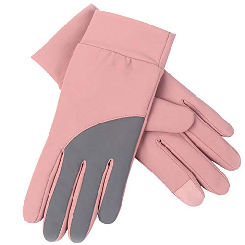 Price comparison product image Affordable Womens Soft Touch Screen Gloves Windproof Warm Thermal Smartphone Texting Glove for Driving Cycling Running(Pink)