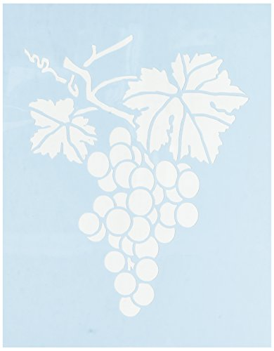 Faux Like a Pro Grape Cluster Wall Stencil, 5.5 by 7-Inch, Single Overlay ()