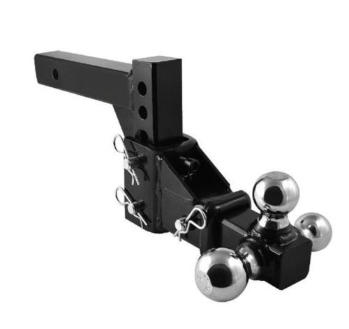 9TRADING HD 3 Ball Adjustable Drop-Turn Trailer Tow 2'' Hitch Mount Towing Truck Solid by 9TRADING