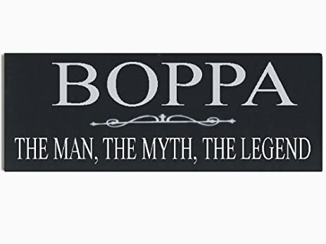 Amazon boppa the man the myth the legend grandpa wood boppa the man the myth the legend grandpa wood handpainted 16quot x 55quot sciox Gallery