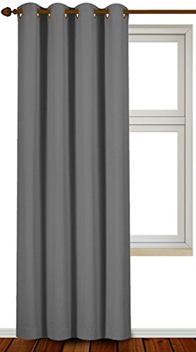 Single Panel Blackout curtains 52 by 84 (Grey)