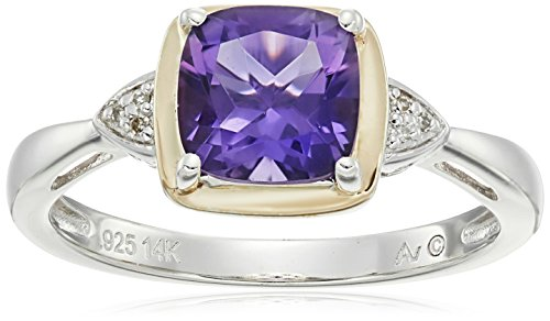 sg-sterling-silver-and-14k-yellow-gold-cushion-amethyst-with-diamond-accent-ring-size-7