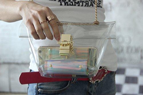 Zarapack, Borsa a spalla donna Trasparente transparente Trasparente (Transparente - Style 1)