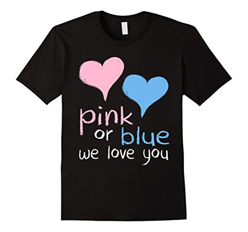 Men's Pink Or Blue We Love You Baby Shower Gender Reveal Cute 2XL (Gender Reveal T Shirts)