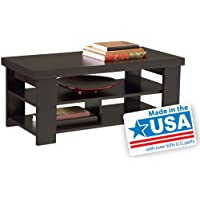Larkin Coffee Table by Ameriwood - Espresso Black Forrest