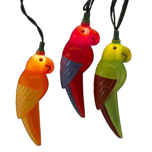Kurt Adler UL 10-Light Parrot Light Set (Bird String Lights)