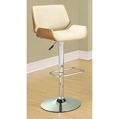 Coaster 130503 Home Furnishings Adjustable Bar Stool, Walnut/Ecru