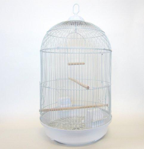 UPC 833775000384, YML Round Medium Cage, White