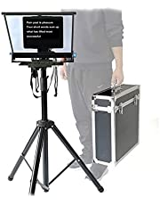 15-inch Teleprompter,Teleprompter with Remote Control and Air Case,Folding Portable Teleprompter for Mobile Phone Tablet Ipad News Interview Live Speech Meeting