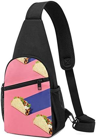 ボディ肩掛け 斜め掛け タコス ショルダーバッグ ワンショルダーバッグ メンズ 軽量 大容量 多機能レジャーバックパック