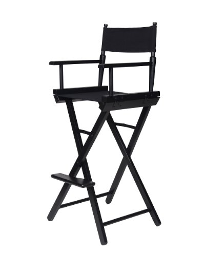 Trademark-Innovations-Directors-Chair-Counter-Height-Black-Wood