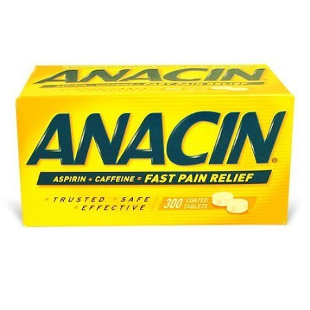Fast pain relief - Anacin Tablets, 300 Coated Tablets, Box - Anacin Aspirin