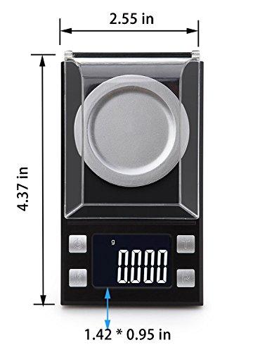 고정밀 디지털 밀리 그램 포켓 저울 50 x 0.001g 감도 휴대용 Relo..