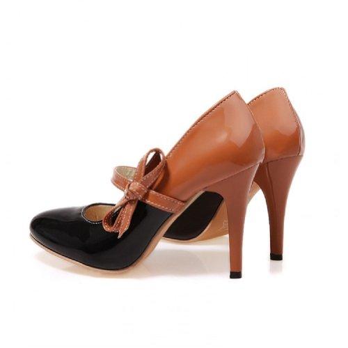 Charme Voet Mode Dames Hoge Hak Mary Jane Pumps Schoenen Zwart