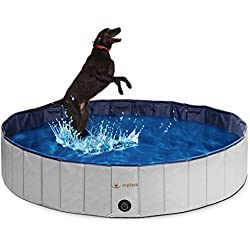 PUPTECK Foldable Dog Swimming Pool - Outdoor Portable Pet Bathing Tub Extra Large