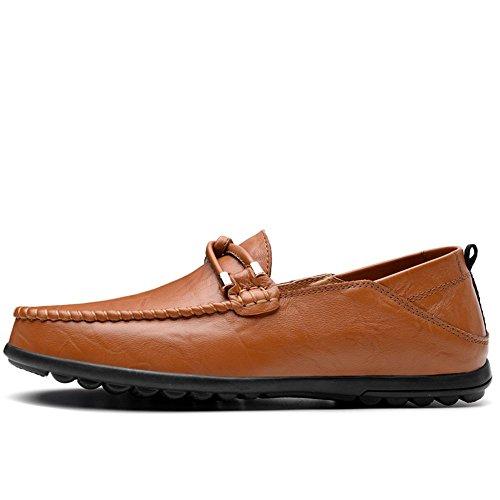 ai 43 Marrone adatto minimalista alla da 2018 Uomo Mocassini uomo Da Color Shufang tinta fino Scarpe shoes mocassini 47 uomo da Dimensione EU colore Mocassino di taglia in pelle unita PxFfPHqU