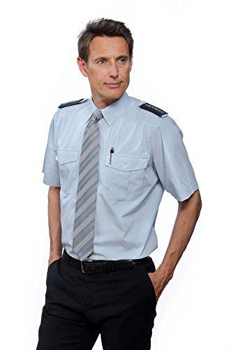 Blaue Pilotenhemden, kurzarm, mit abnehmbaren Schulterklappen