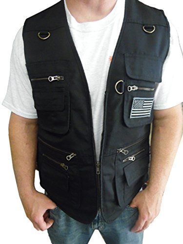 Blue Stone Safety New & Improved Concealment Vest with Zippers Throughout Entire, Black, Large ()