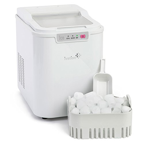 Ivation Portable Compact High Capacity Household Ice Maker – Features 2.2-Liter Water Reservoir – Yields up to 26.5 Pounds of Ice Daily For Sale