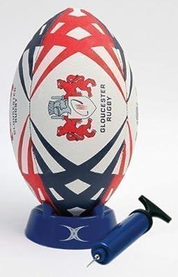 Gilbert - Juego de balón, tee e hinchador para rugby (diseño del ...