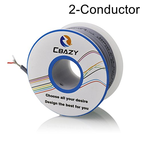 CBAZY™ 2547 26 AWG Control Cable Copper Wire Shielded Audio Cable Headphone Cable Signal Line 2-core 8 Meter (2 Signal Line)