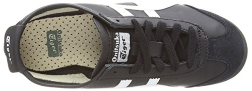 Onistuka Tiger Mexico 66, Unisex Adults' Low-Top Sneakers, Black (Black/White 9001), 4 UK