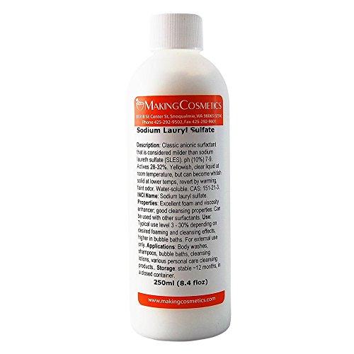 MakingCosmetics - Sodium Lauryl Sulfate - 8.4floz / 250ml - Cosmetic Ingredient ()