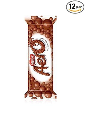 amazon com nestle aero milk chocolate bar 27 g 1 4 ounce pack