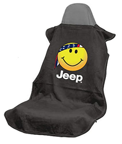Seat Armour SA100JEPSFB Black 'Jeep Smiley Face' Seat Protector Towel