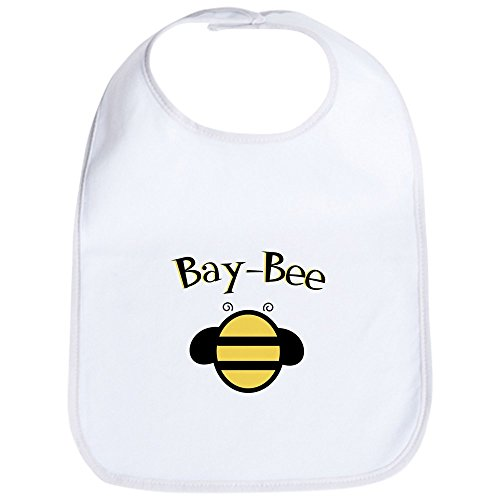 CafePress - Bay-Bee Baby Bumblebee - Cute Cloth Baby Bib, Toddler Bib