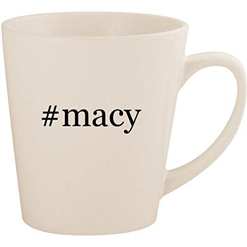 #macy - White Hashtag 12oz Ceramic Latte Mug Cup