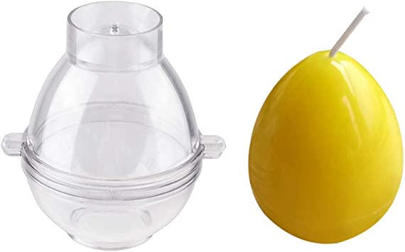 Plastic Mold 4 Sizes Egg Sphere Ball Shaped Candle Making Molds Soap Mould