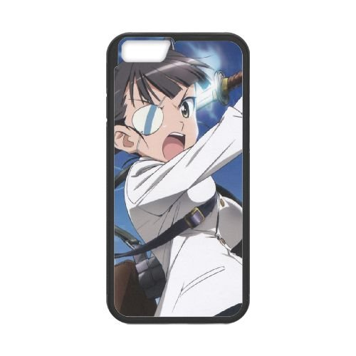 Strike Witches Girl Guns Sky Eye Patch 41226 coque iPhone 6 Plus 5.5 Inch cellulaire cas coque de téléphone cas téléphone cellulaire noir couvercle EEECBCAAN05154
