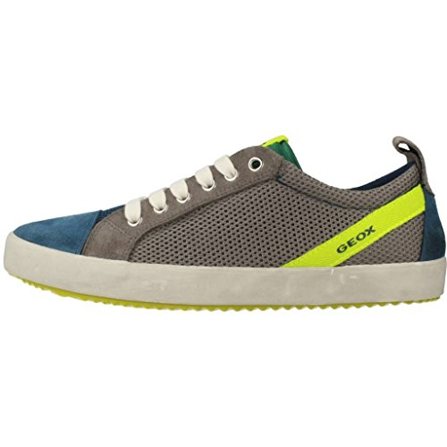 Geox J Alonisso B, Zapatillas Para Niños Gris-Azul