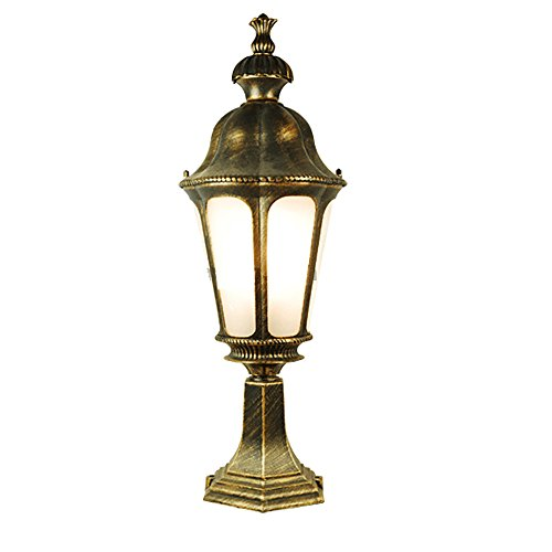 ETOPLIGHTING Le Bien Collection Oil Rubbed Golden Black Outdoor Lantern Post Light Fixture with Frosted Glass, Garden Light, Decoration Light, APL1862