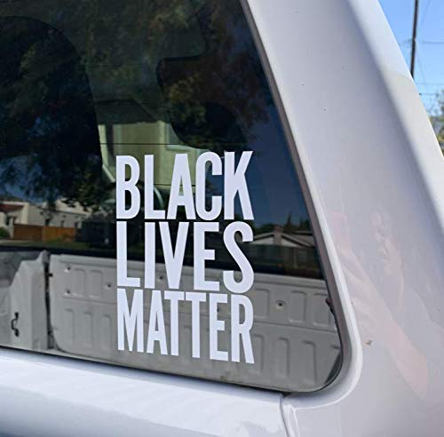 Social Justice for All Trucks Laptop Window Any Smooth Surface Die-Cut White Vinyl Decal for easy visibility BLACK LIVES MATTER Vans Cars